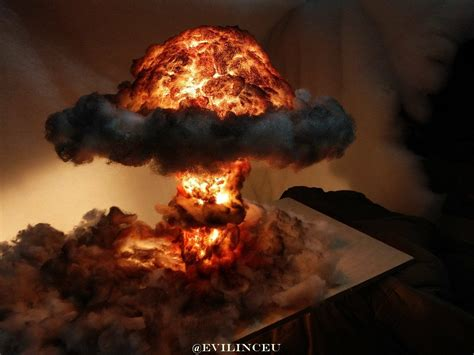 This dramatic bomb blast is actually a lamp!