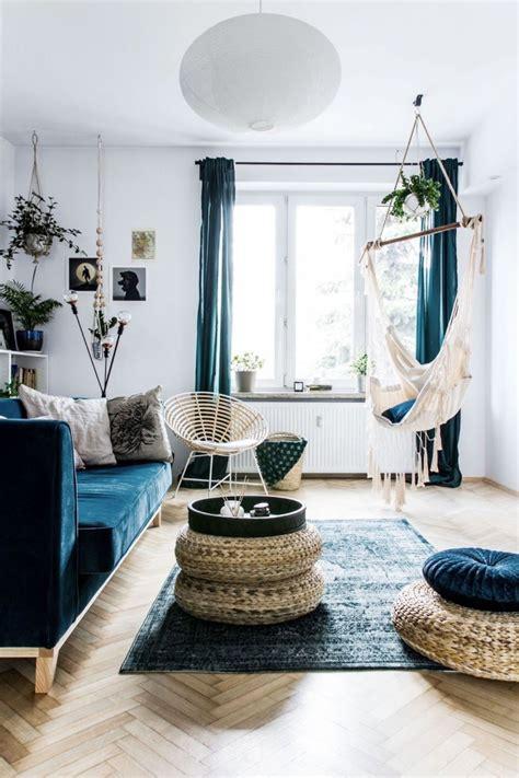 deco salon bleu pour une ambiance elegante  sereine