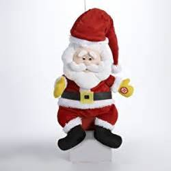 amazon com plush santa claus animated rolling laughing christmas toy home kitchen