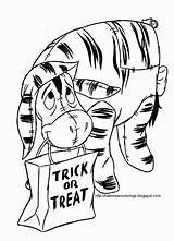 Disney Coloring Halloween Pages Printable Larger Version sketch template
