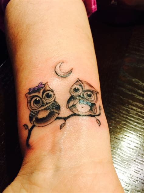 picture   owls tattoo   wrist