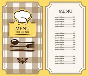 free restaurant menu template free eps file set of cafe With menu with pictures template