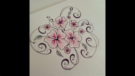 draw flowers  beginners easy version tattoo