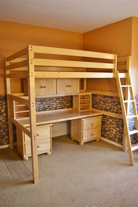 full loft bed plans woodworking projects plans