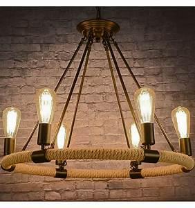 Lustre Suspension Design : lustre suspension chandelier corde design vintage r tro babylone ~ Teatrodelosmanantiales.com Idées de Décoration