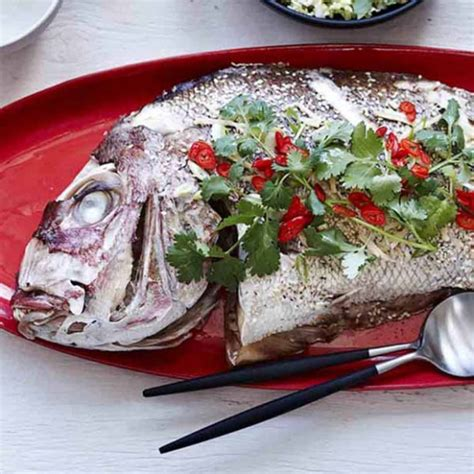 baked snapper oven baked snapper with asian flavours recipe myfoodbook