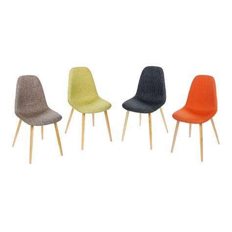 chaise de couleur lot de 2 chaises inspiration scandinave couleur gris pieds