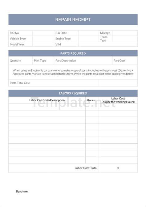 21 receipt templates free premium templates