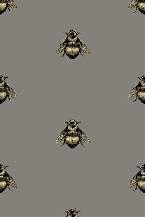 timorous beasties wallcoverings napoleon bee wallpaper