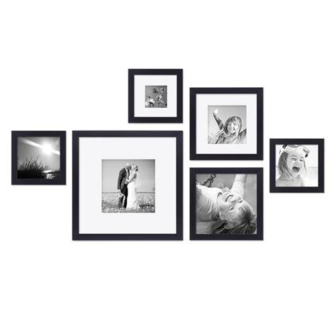 bilderrahmen schwarz quadratisch 6er set bilderrahmen schwarz modern quadratisch aus mdf mit glasscheibe und zubeh 246 r fotorahmen