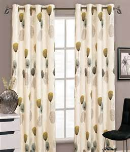 Silver Grey Curtains With Eyelets by Stylish Floral Ring Top Eyelet Lined Curtains Faux Silk