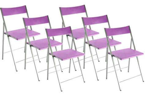 lot chaise pas cher lot de 6 chaises pliantes violettes bilbao chaise