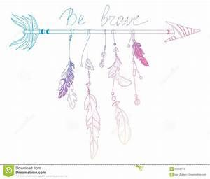 Dessin Fleche Tatouage : illustration de vecteur d 39 une fl che avec des plumes totem stylis indien dessin la main art ~ Melissatoandfro.com Idées de Décoration