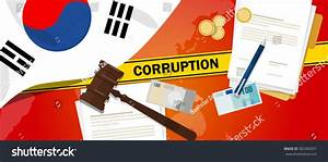South Korea Fights Corruption Money Bribery Stock Vector ...