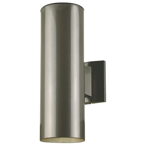 2 light outdoor wall sconce westinghouse 2 light polished graphite on steel cylinder