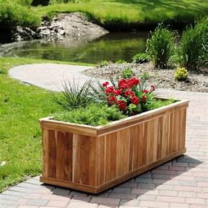 bac a fleurs en bois de design classique rectangulaire With chambre bébé design avec fleurs de bac