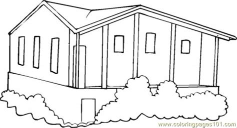 bungalow coloring page  houses coloring pages coloringpagescom