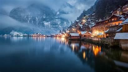 Desktop Austria Night Pc Europe Landscape Lake
