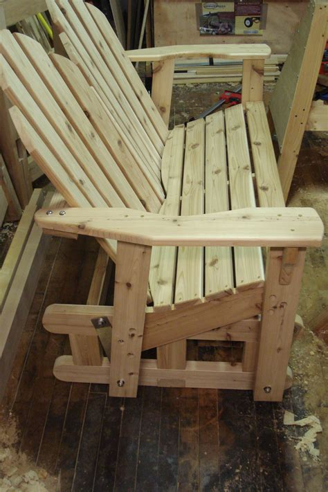 woodwork glider rocker bench plans  plans