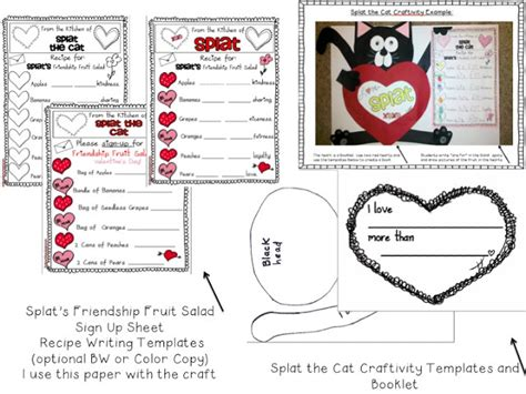 Splat The Cat Template by Kinderworld Valentines With Splat The Cat