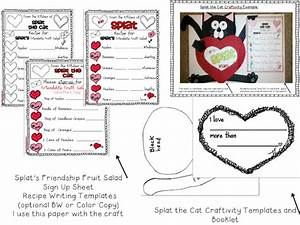 kinderworld valentines with splat the cat With splat the cat template