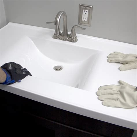 how to attach sink to vanity install a bathroom vanity and sink