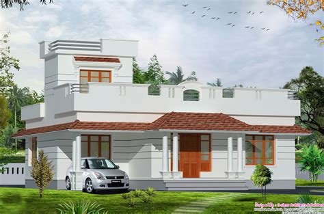 single house designs front elevation of single floor house kerala with plans sq
