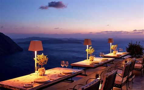 cliffside dinner restaurant san antonio santorini hotel