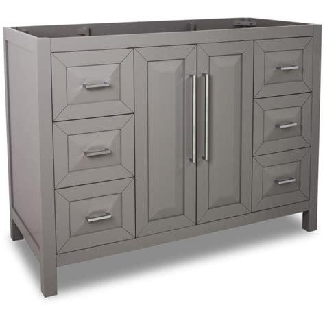 48 inch vanity cabinet only jeffrey alexander van100 48 grey cade contempo collection