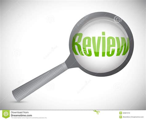 Magnifying Glass Showing Review Word Royalty Free Stock ...