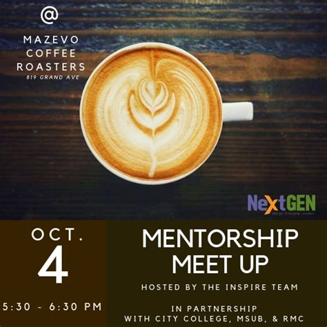 On average we discover a new mazevo coffee discount code every 45 days.in the last. Mentorship Meet Up 10/04/2018 Billings, Montana, Mazevo Coffee Roasters & Espresso Bar - Other ...