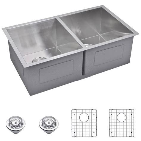 kitchen sink finishes water creation undermount zero radius stainless steel 31 2707