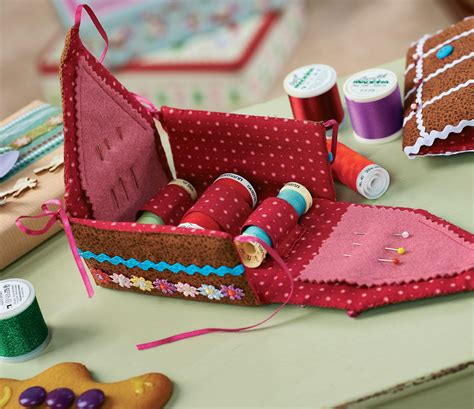 gingerbread house sewing box  sewing patterns sew