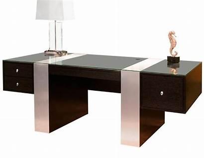 Office Desk Executive Modern Nero Wenge Aluminum