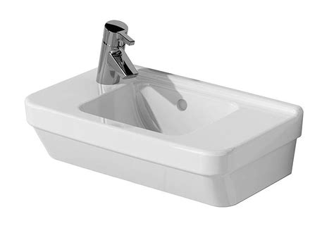 vitra  compact basin  tap hole  left hand side