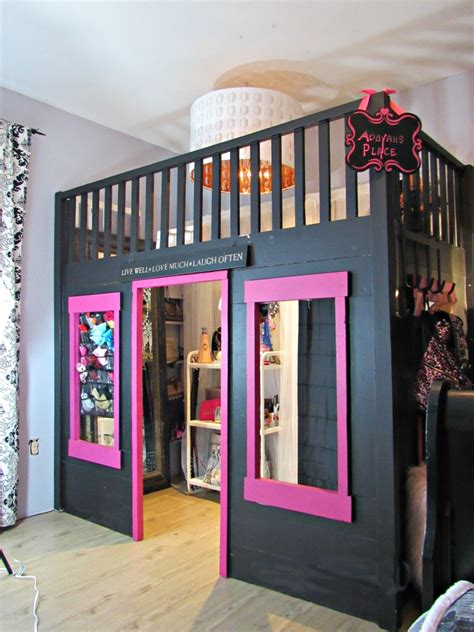 walk in closet bed turning a bunk bed into a walk in closet for a tween or