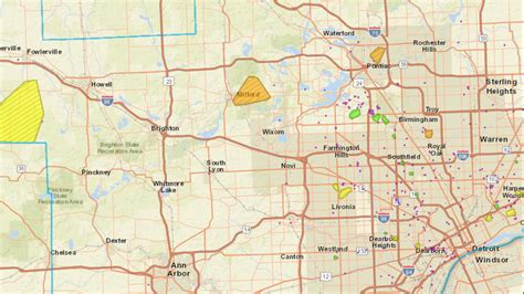 dte energy power outage map thousands  electricity