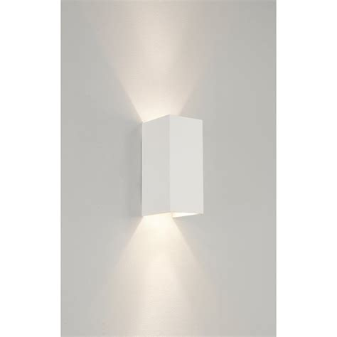 astro 0964 parma 210 2 light up down wall light plaster