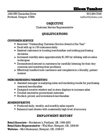 General Objectives For Resume by Sle General Objective For Resume 7 Exles In Pdf