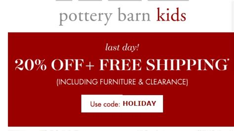 pottery barn code 50 pottery barn code save 20 w promo code