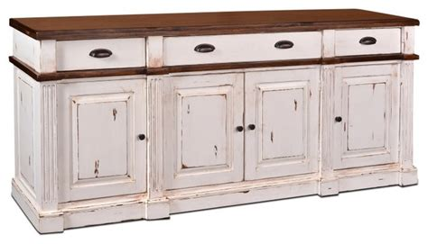 White Buffets And Sideboards by Landon Distressed White Sideboard Storage Cabinet
