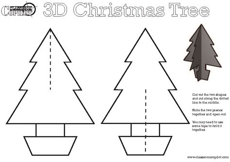 17 best photos of 3d christmas paper crafts templates 3d