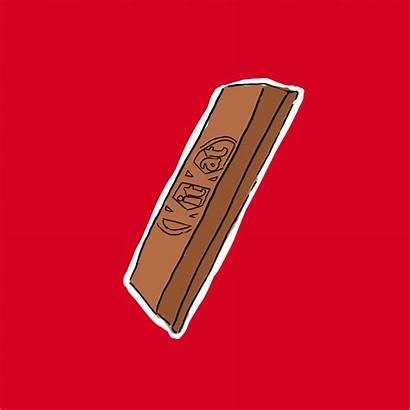 Kat Kit Kitkat Biting Break Gifs Habit
