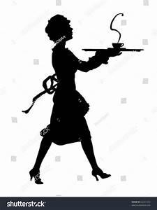 Maid Silhouette Retro Clipart Illustration Stock Vector ...
