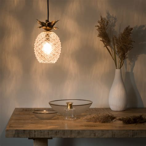 Pineapple Lights by Gold Metal And Glass Pineapple Pendant Light Maisons Du