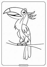 Coloring Bird Printable Pdf Animals sketch template