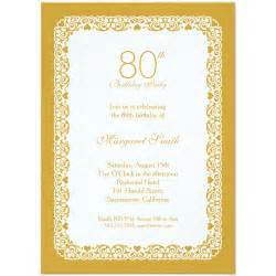 40th wedding anniversary gifts lace 80th birthday invitations choose your own colors
