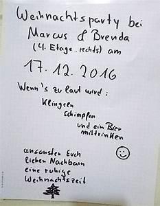 Nachbarn Schriftlich über Party Informieren : prviate weihnachtsfeier so klappt es dann auch mit den nachbarn ~ Frokenaadalensverden.com Haus und Dekorationen