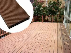 Terrasse Lame Composite : lame de terrasse en bois composite 9 m2 20 lames avec ~ Edinachiropracticcenter.com Idées de Décoration