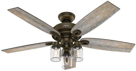 farmhouse style ceiling fans with lights 52 quot indoor rustic farmhouse industrial bronze ceiling fan